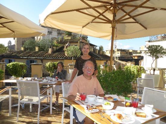 Albergo Cesari: Breakfast on Albergo Cesare's Rooftop Terrace
