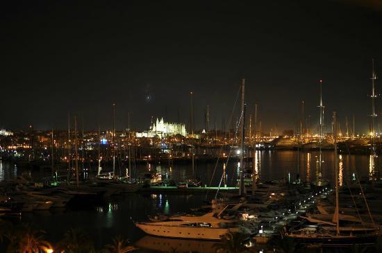 Melia Palas Atenea: Night view from seaside room