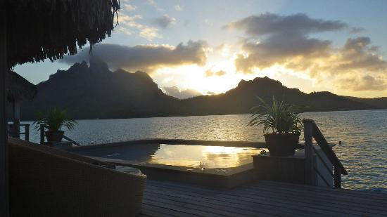 The St. Regis Bora Bora Resort: Sunset from the deck of our Villa