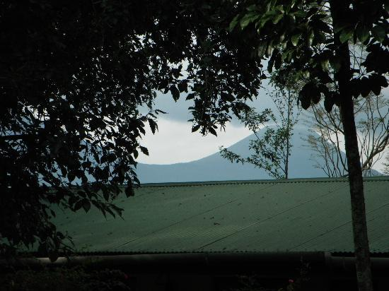 Traveler's Rest Hotel: view of the volcanoes from the gardens.