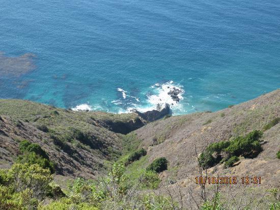 Post Ranch Inn: looking down to the ocean