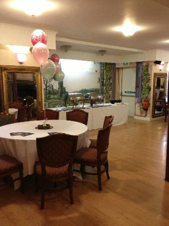 another function room set up picture of wroxall abbey
