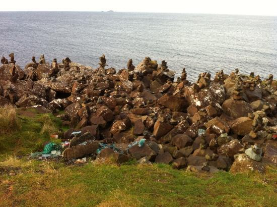 Also check out the impromptu rock cairns at one of the lay us towards the Stein Inn