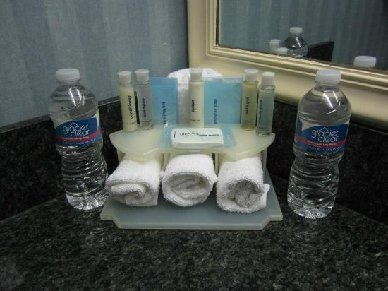 Comfort Inn Orlando/ Lake Buena Vista: Bath products and bottled water for your conveinence