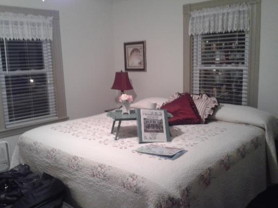 Our bedroom at By the Sea Bed and Breakfast