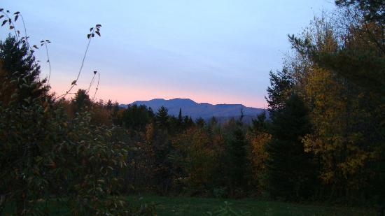 Moose Meadow Lodge: view from the deck at sunset