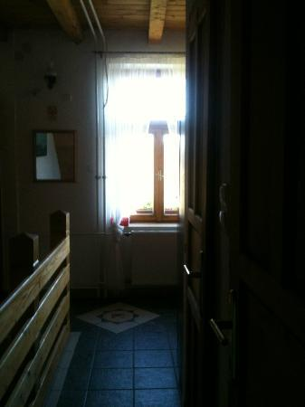 Hungaria Guesthouse: View from shower ensuite