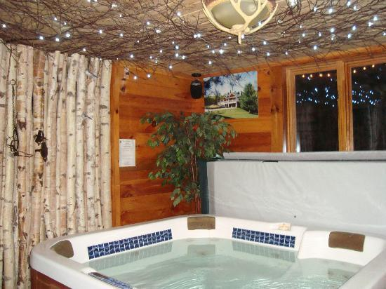 Moose Meadow Lodge: the hot tub room