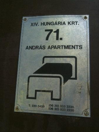 Hungaria Guesthouse: No 71 Address