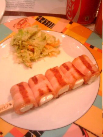 Happy Bar & Grill Center Varna: Cheese and bacon :) Just Delicious!!!!! I won't die before trying this again!