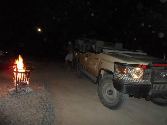 Nkorho Bush Lodge : after a evening bush drive