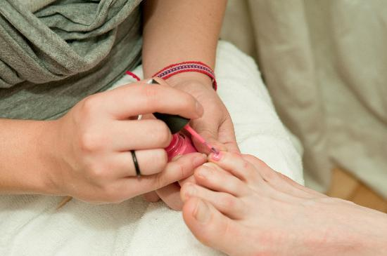 Bare Hands Day Spa: We offer pedicures.