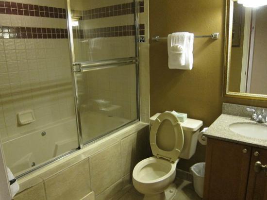 Legacy Vacation Resorts-Lake Buena Vista: バスタオルは沢山あってよかったけど、古いバスタブはバスタブとして使用不可