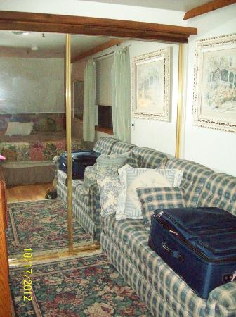 Yosemite Bug Rustic Mountain Resort: Also in bedroom with mirror on sliding closet door