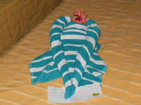 Memories Varadero Beach Resort: Towel art :)
