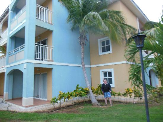 Memories Varadero Beach Resort: Leaning tree against one of the buildings!!