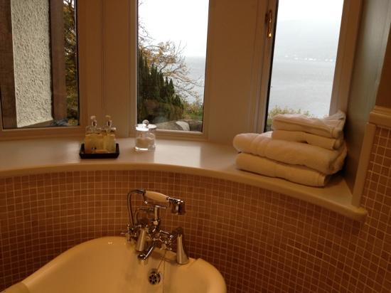 Knockderry House Hotel: View from roll top bath room 2