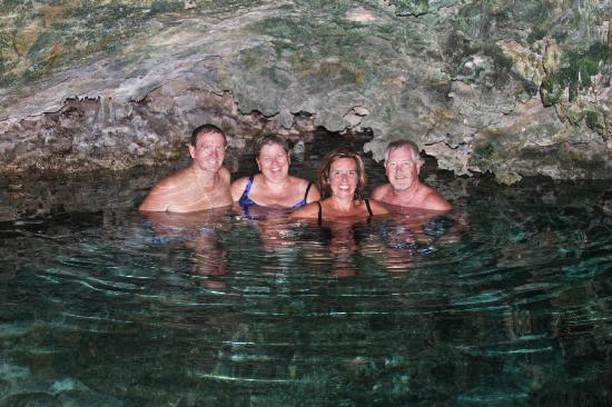 Barcelo Maya Colonial: Cenote swim after ATV rides