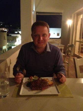 Gleefully preparing to attack sous-vide Rib-eye steak
