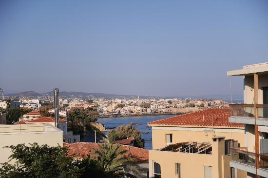 Halepa Hotel: View from the roof terass