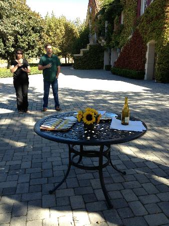 Jordan Vineyard & Winery: chardonnay pairing on the terrace