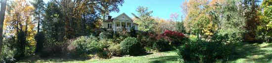 The Yellow House on Plott Creek Road: panoramic view of The Yellow House