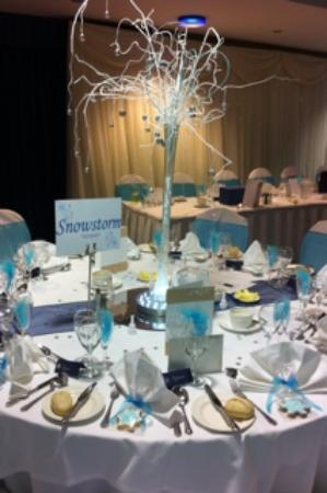 Ramada Birmingham Sutton Coldfield: The table in Mayfair suite for our reception