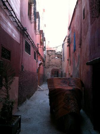 Riad Ben Tachfine ex Riad El mansour: strada su cui si affaccia il rida