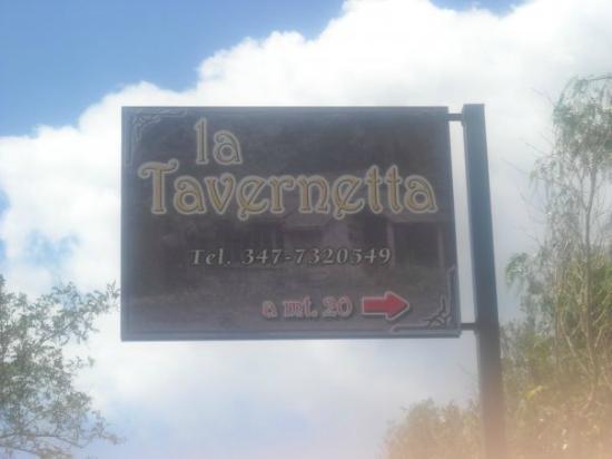 """Insegna de """"La Tavernetta"""""""