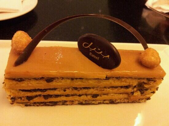 Cafe Bateel: Russe cake with hazelnut and chocolate