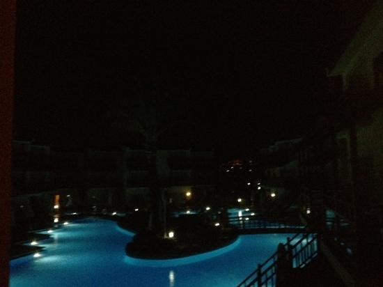 ‪‪Silence Beach Resort‬: View from balcony at night!‬