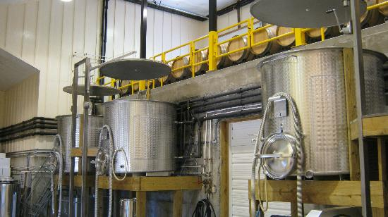 "Lovingston Winery: You enter viewing the ""vat area"""