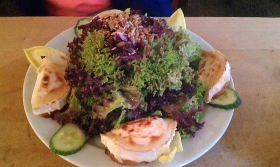 Prater Garten : salad with fried cheese; excellent dressing