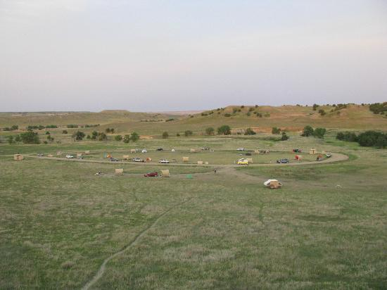 Sage Creek Campground: View of campground from a nearby hill