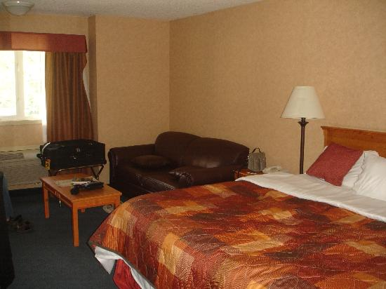 Ramada Canmore: 2nd floor room, clean, very tastefully decorated