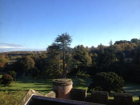 Dalhousie Castle: view from our room (Cromwell)