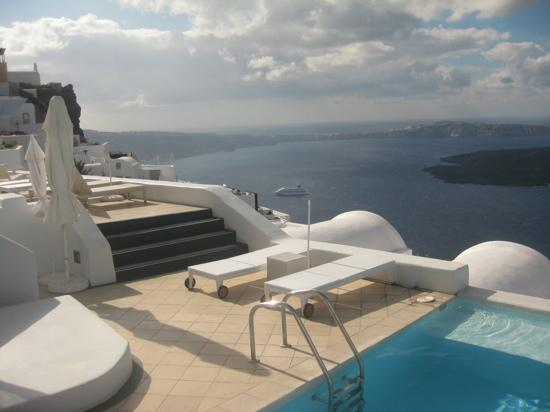 Astra Suites: view from pool