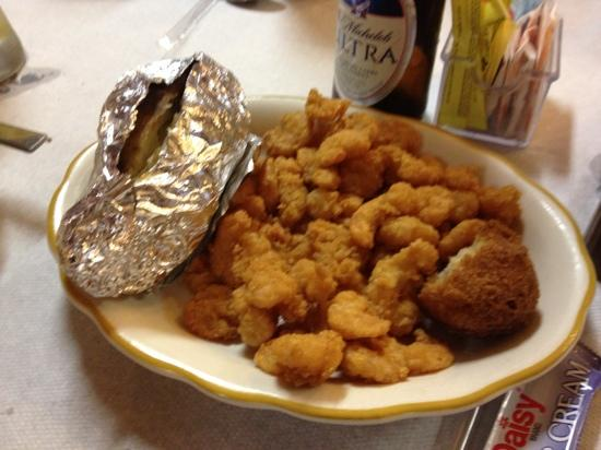 Jesup, GA: fried shrimp,looked like frozen bagged shrimp.