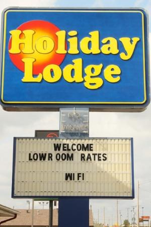 Holiday Lodge : Sign