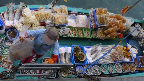 Sai kung promenade local fish market scene picture of for Local fish market