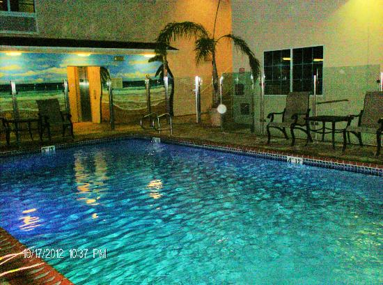 Holiday Inn Express Hotel & Suites Hollywood Hotel Walk of Fame: Pretty pool area with mural
