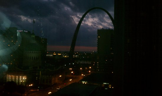 City Garden: Night sky in St Louis
