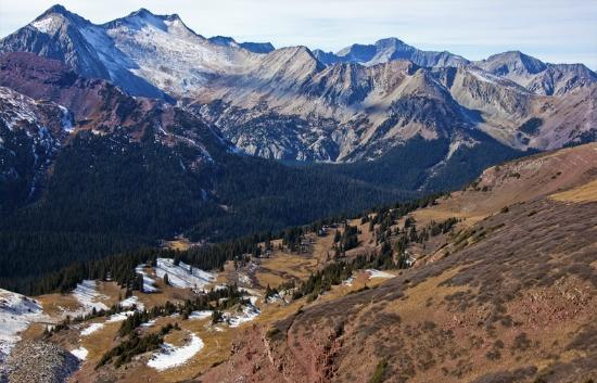 Snowmass Mtn (14er) and Lake from Buckskin Pass