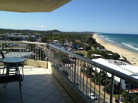 Coolum Caprice Luxury Holiday Apartments : View from apartment 61 on the 10th floor