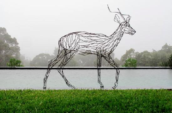 Spicers Sangoma Retreat: springbuck sculpture