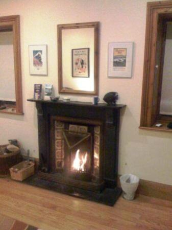 Inish Beg Estate: A blazing fire in the living room
