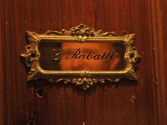 Casa Rabatti: Marcella's apartment door