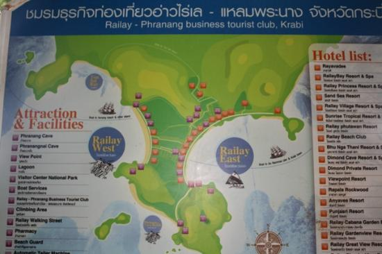 Railay Beach: map