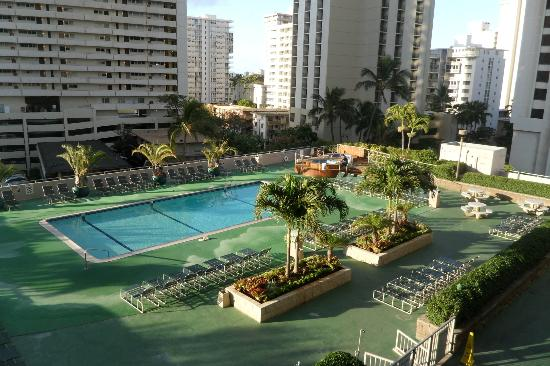 Waikiki Banyan: View from the condo balcony -