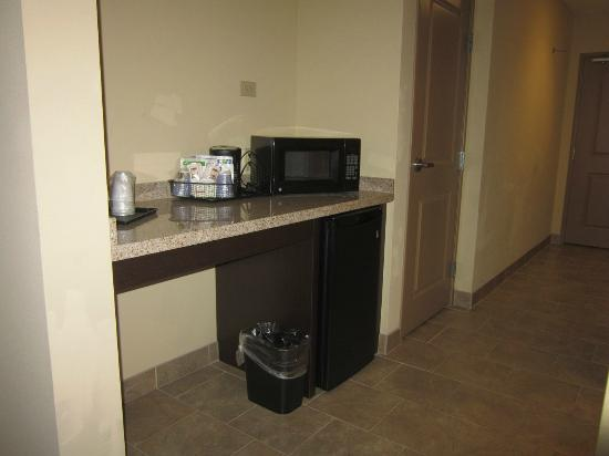 Holiday Inn Express Hotel & Suites Grand Island: Counter with micro and fridge .. nice!